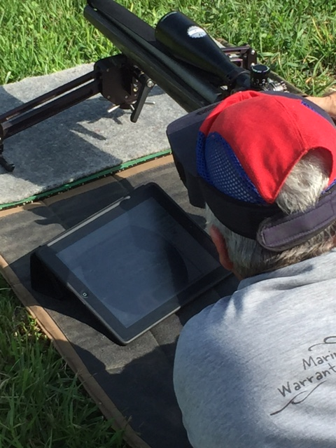 F-Class using tablet to view shot location and score